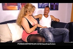 HAUSFRAU FICKEN - The man tow-headed German granny cheats with younger man and acquires cum chiefly tits