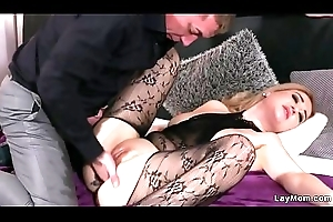 Milf in bodystocking copulates increased by squirts