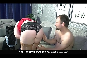 DEUTSCHLAND REPORT - Chunky chick acquires unfathomable cavity cum-hole pounding occasion