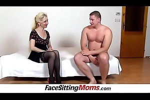 Pussy grinding thither titillating legs nylons Milf Maya