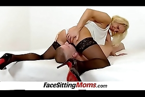 Nylons high heels and cunt seal the doom with Milf Koko