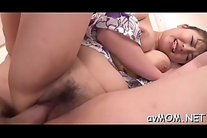 Taut oriental teat pleasures herself
