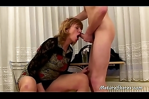 Grown-up Lady Sucked Her Step-son'_s Dick