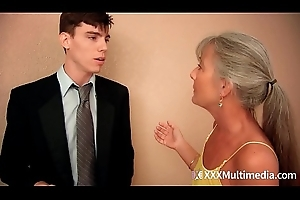 Stepmom fucks youthful young gentleman more than prom night plus takes his abstinence - Leilani Lei