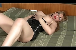 Latex Dress ANAL MILF with Chubby Load of shit Youthful Brace