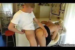 Colossal Learn of Brat Seduce German Big Boob MILF to Lose one's heart to