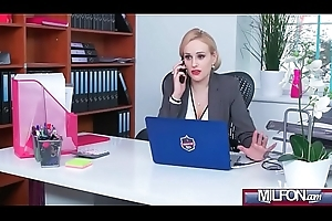 Bosomy Milf chief honcho bonks chubby geek cock(Angel Wicky) 01 vid-06