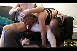 Domineer uk filial gilf acquires bore roughfucked