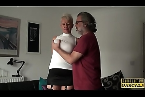 Big-busted british gilf fucked into ass by maledom