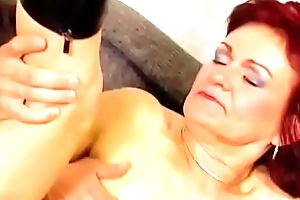 Redhead Granny Takes Anal Yearn
