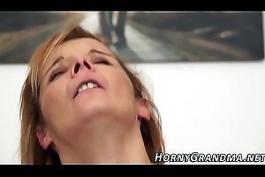 Cougar acquires anal creampie