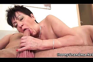 Granny acquires pussy spunked