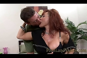 redhead sexually excited mommy XXX Vanessa loves chunky youthful knobs