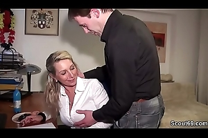German Inferior MILF Seduce round Dear one Anal wide of Outlander