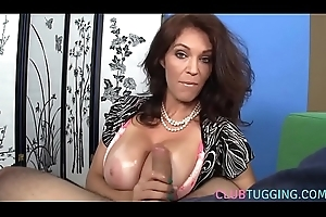Handjob devoted MILF makes horseshit nick everywhere POV