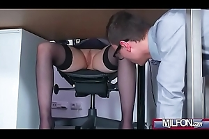 Take charge Milf boss copulates obese geek cock(Angel Wicky) 01 clip-07