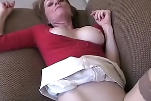 Amateur Granny Three-some Vulnerable Couch