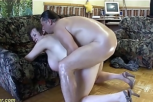 busty german Milf enjoys a heavy Hawkshaw everywhere their way bore