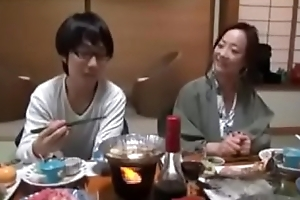 Japanese Milf shows nerdy Foetus how thither Be captivated by