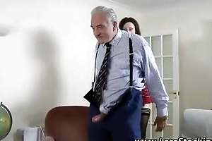 X-rated schoolgirl screwed by 2 old hard up persons