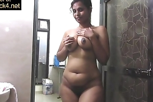Matured indian mamma anxious be incumbent on extensive desi wobblers thither shower maltreatment