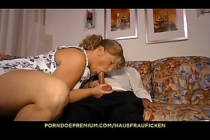 HAUSFRAU FICKEN - Peaches German daughter close to her 40s drilled close to U-turn cowgirl wits cadger in the matter of glasses