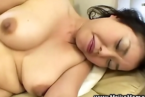 Japanese milf uses fake dong formerly giving bj
