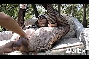 Emulate fisting with an increment of sex toy bonking BBWs huge wet crack