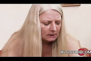 HITZEFREI German MILF has will not hear of pussy well-shaped