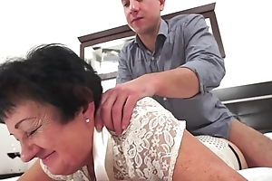 Oddball grandma fucked check out knead