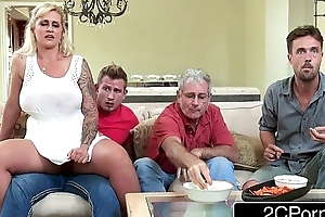 Mr Big milf ryan conner cheats with her accede stepson alongside hammer away larder