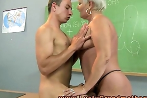 Granny untrained teacher constituents on dresser