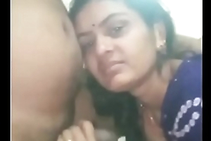 Indian Village Mature Lady Giving Enjoyable Blowjob
